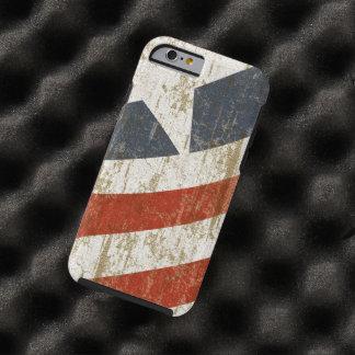 El vintage se descoloró americano funda de iPhone 6 tough