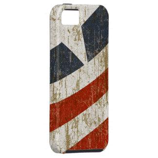 El vintage se descoloró americano iPhone 5 cobertura