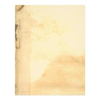 El vintage se descoloró papel con membrete de las membrete personalizado