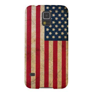 El vintage se descoloró viejo Grunge de la Funda Galaxy S5