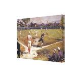 El vintage se divierte a los jugadores de béisbol lona estirada galerias