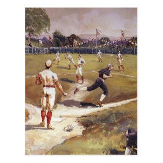 El vintage se divierte a los jugadores de béisbol postales
