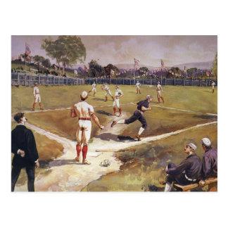 El vintage se divierte a los jugadores de béisbol tarjetas postales