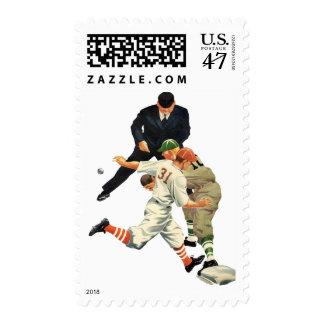 El vintage se divierte a los jugadores de béisbol timbres postales