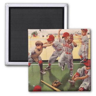 El vintage se divierte al equipo de béisbol, mucha imán de frigorifico