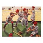 El vintage se divierte al equipo de béisbol, mucha invitación