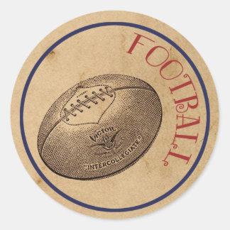 El vintage se divierte al pegatina del fútbol