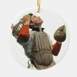El vintage se divierte béisbol, colector confuso ornamentos de navidad