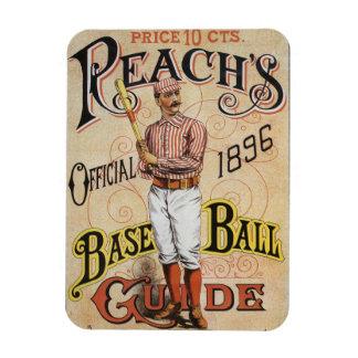 El vintage se divierte el béisbol, arte de la imanes rectangulares