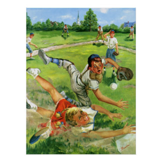 El vintage se divierte el béisbol, el jugar de los impresiones