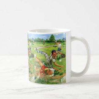 El vintage se divierte el béisbol, el jugar de los taza