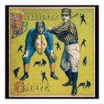 El vintage se divierte el béisbol, partido en casa invitación 13,3 cm x 13,3cm