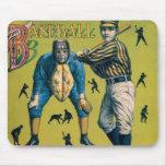 El vintage se divierte el béisbol, partido en casa alfombrillas de raton