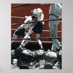 El vintage se divierte el boxeo, boxeadores en el  posters