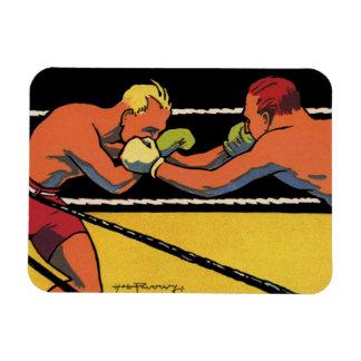 El vintage se divierte el boxeo, el luchar de los iman flexible
