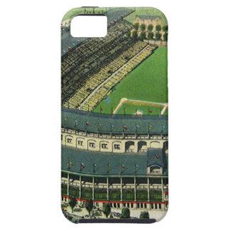 El vintage se divierte el estadio de béisbol, funda para iPhone SE/5/5s