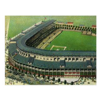 El vintage se divierte el estadio de béisbol, postal