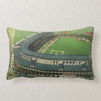 El vintage se divierte el estadio de béisbol visi almohada