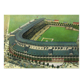 El vintage se divierte el estadio de béisbol visi comunicados personales
