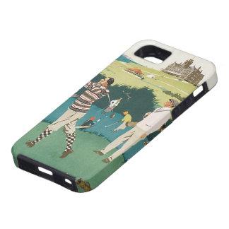 El vintage se divierte el golf en Escocia, el iPhone 5 Carcasa