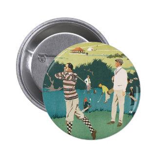 El vintage se divierte el golf en Escocia, el Pin Redondo De 2 Pulgadas