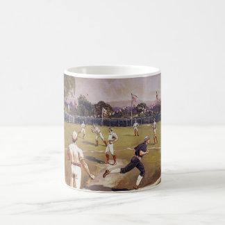 El vintage se divierte el juego de béisbol de taza clásica