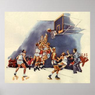 El vintage se divierte el juego de los jugadores póster