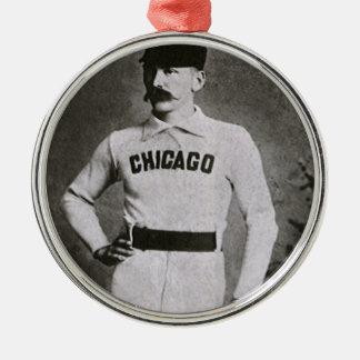 El vintage se divierte la foto del béisbol; adorno de navidad