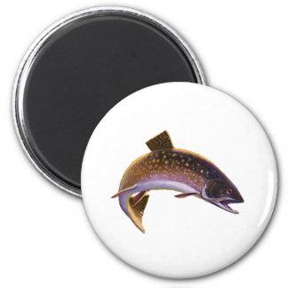 El vintage se divierte salmones de la pesca de los imanes de nevera