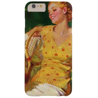 El vintage se divierte tenis, amor y romance funda para iPhone 6 plus barely there