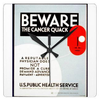 El vintage se guarda del poster de WPA del Reloj Cuadrado