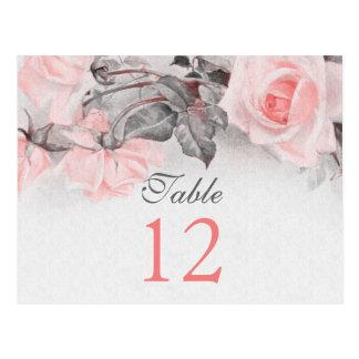 El vintage se ruboriza las tarjetas color de rosa postales