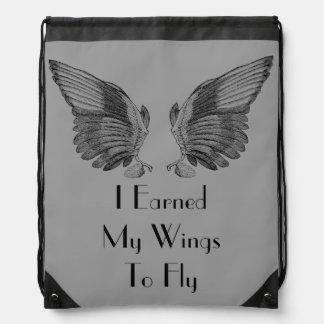 El vintage se va volando (gané mis alas) el bolso  mochilas