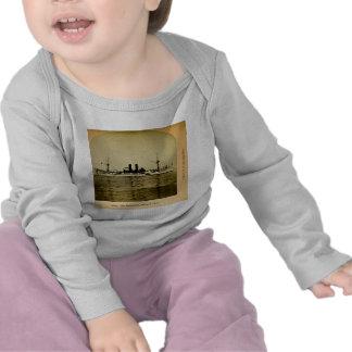 El vintage Stereoview de Maine del acorazado Camiseta