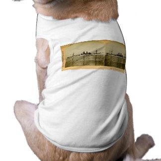 El vintage Stereoview de Maine del acorazado Playera Sin Mangas Para Perro