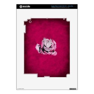 El vintage subió da Grunge de los clavos Pegatina Skin Para iPad 3