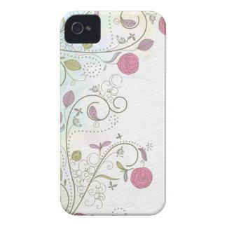 El vintage subió el caso floral del iphone 4 de lo iPhone 4 protector