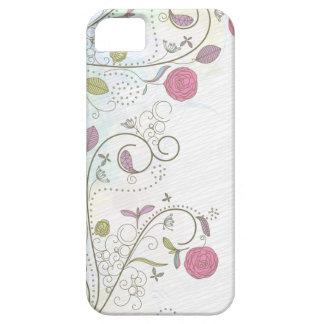 El vintage subió el caso floral del iphone 5 de iPhone 5 carcasa