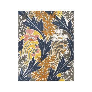 El vintage Swirly hojea y florece el arte Nouveau Lona Estirada Galerías