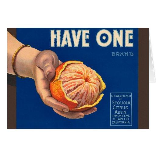 El vintage tiene un anuncio de la secoya de la mar tarjeton