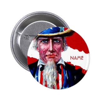 El vintage tío Sam 4 de julio añade la insignia co Pins