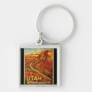 El vintage Utah Boynton pasa por alto Llaveros Personalizados