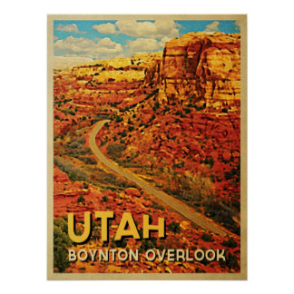 El vintage Utah Boynton pasa por alto Poster