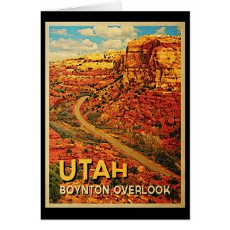El vintage Utah Boynton pasa por alto Felicitaciones
