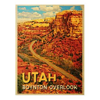 El vintage Utah Boynton pasa por alto Tarjetas Postales
