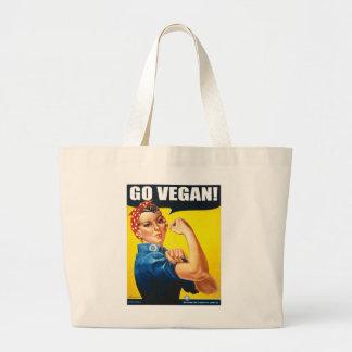 El vintage va la bolsa de asas del vegano