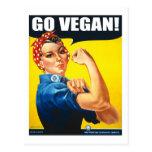 El vintage va las postales del vegano