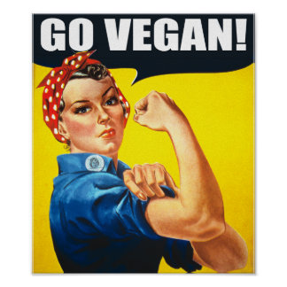 El vintage va poster del vegano