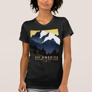 El vintage WPA considera la camiseta del poster de Playeras