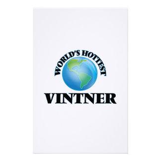 El Vintner más caliente del mundo Papeleria Personalizada